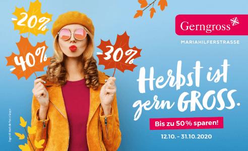 Gerngross Herbst-Gutscheinheft