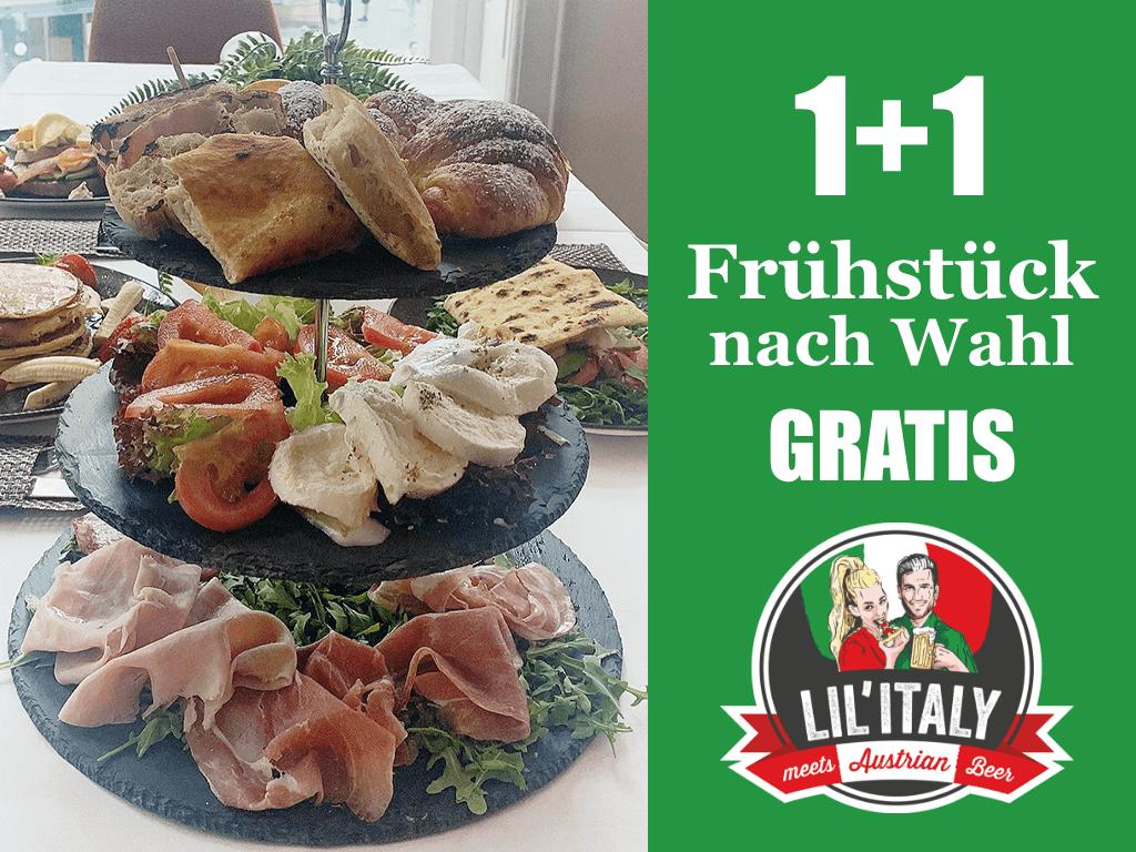 1+1 Frühstück nach Wahl GRATIS!