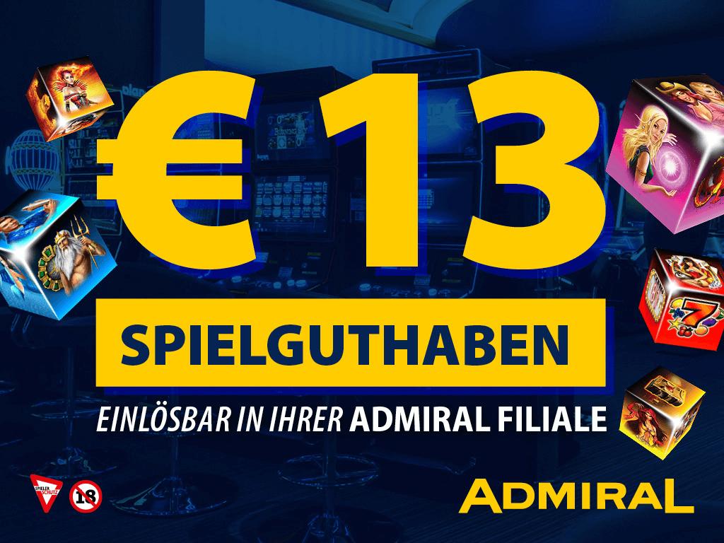 13 EUR Spielguthaben!
