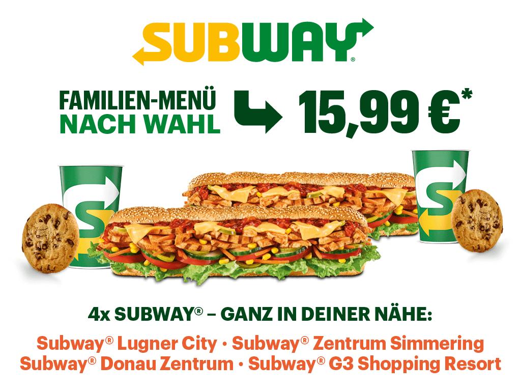 FAMILIEN-MENÜ EUR 15,99!