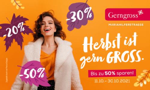 Gerngross Herbst-Gutscheinheft 2021