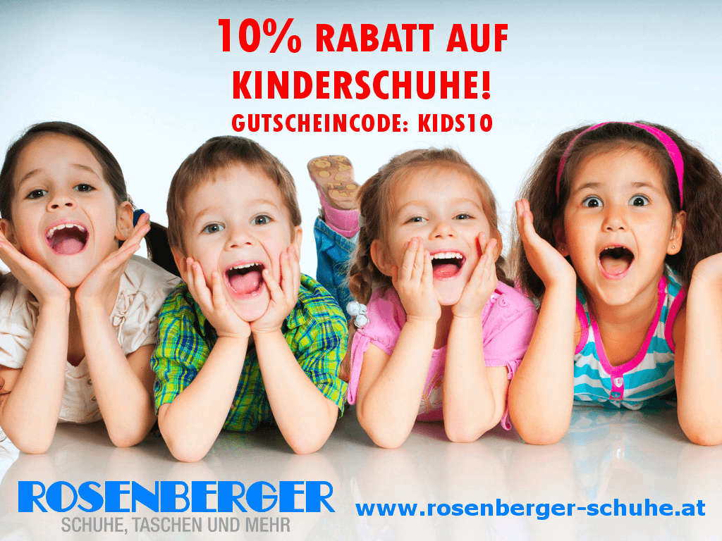 10% Rabatt auf alle Kinderschuhe!